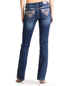 a2b9b30339d Grace in LA Women s Tribal Embroidered Boot Cut Jeans