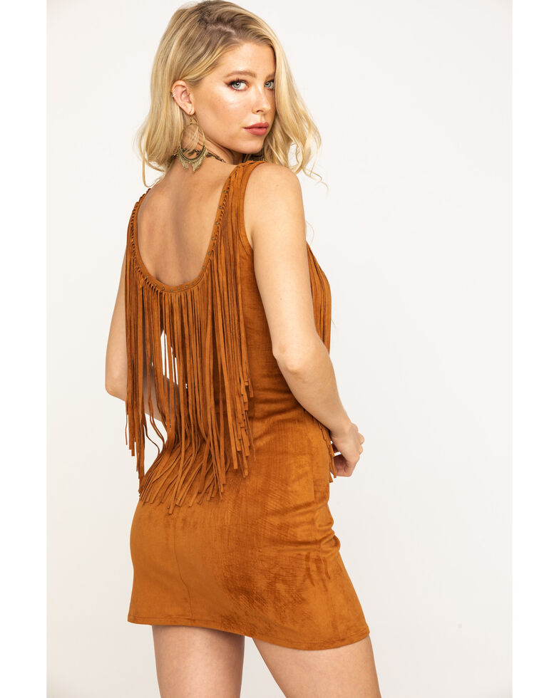 Idyllwind Women's Don't Call Me Sweetheart Dress, Brown, hi-res