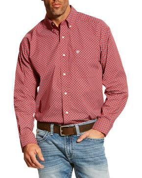 Ariat Men's Red Bardwell Print Shirt , Red, hi-res