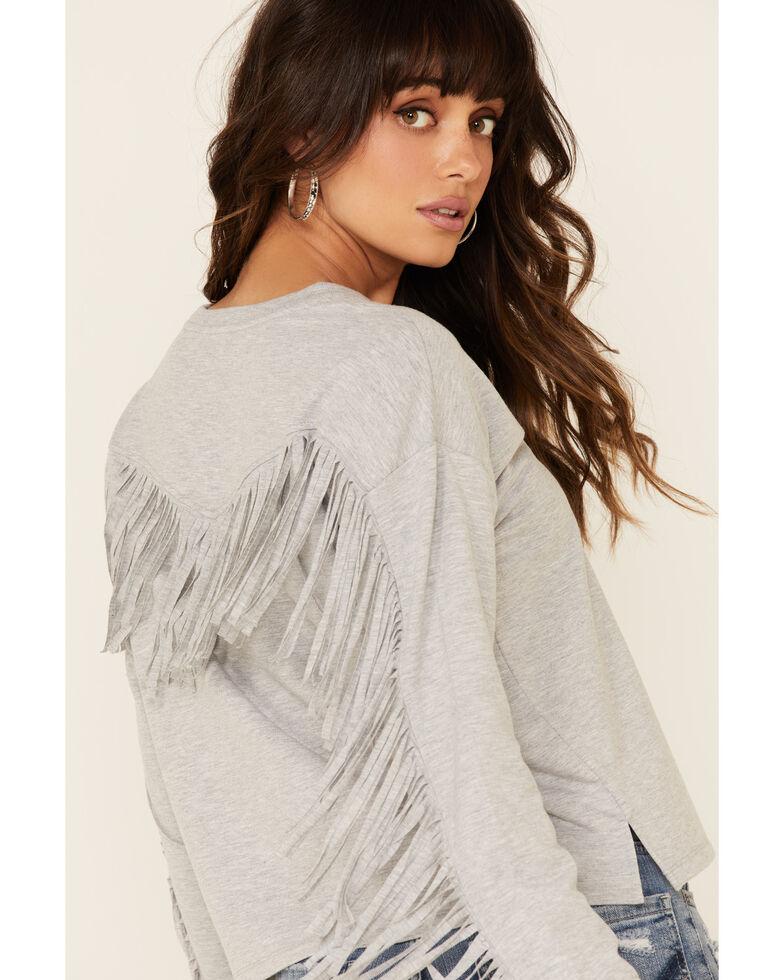 Idyllwind Women's Fringe Sweatshirt, Grey, hi-res