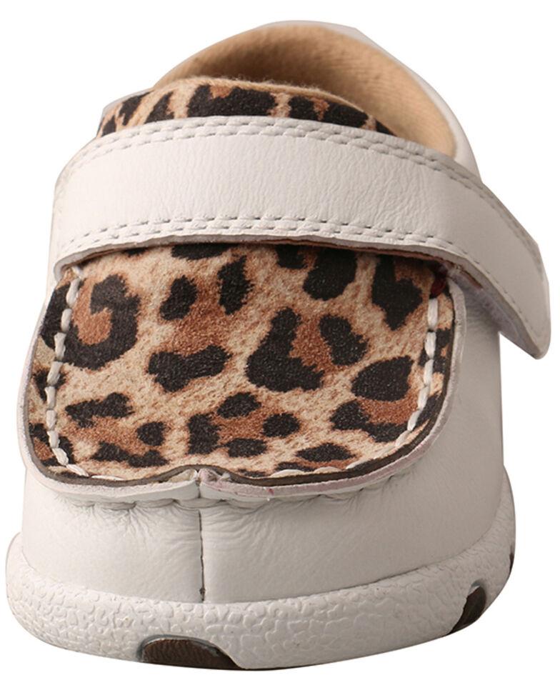 Twisted X Infant Girls' White Leopard Shoes - Moc Toe, White, hi-res