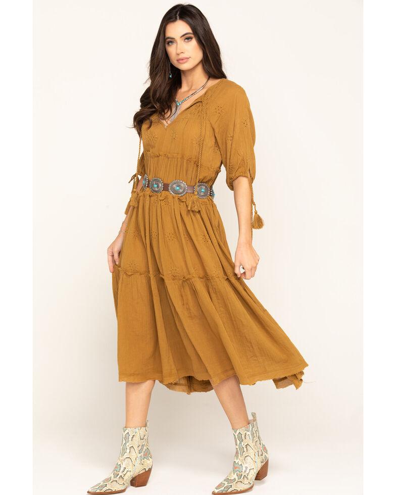 Free People Women's Celestial Skies Maxi Dress , Bronze, hi-res