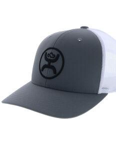 HOOey Men's O Classic Logo Patch Mesh Ball Cap , Grey, hi-res