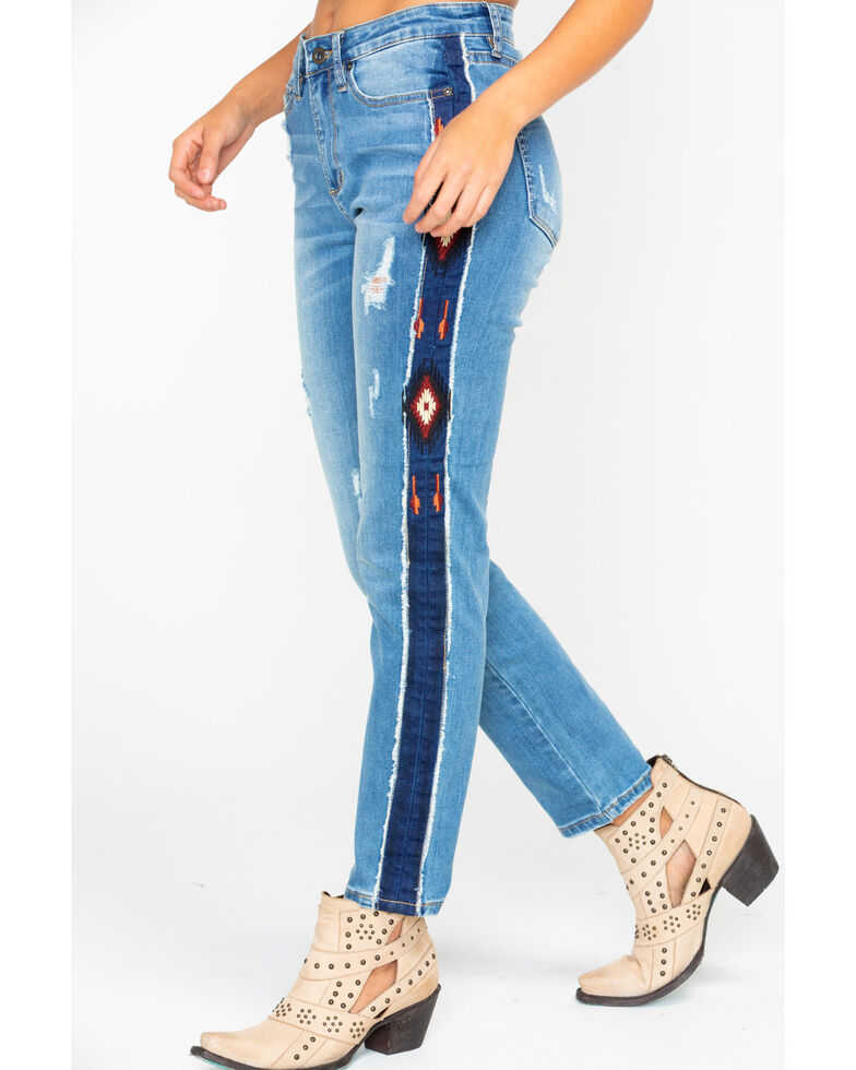 great quality hot product super quality Grace In LA Women's Aztec Stripe Girlfriend Tapered Jeans ...