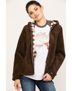 Outback Trading Co. Mt. Rockie Hooded Fleece Jacket, Brown, hi-res