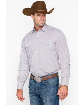 Roper Men's Small Plaid Long Sleeve Western Shirt, Orange, hi-res