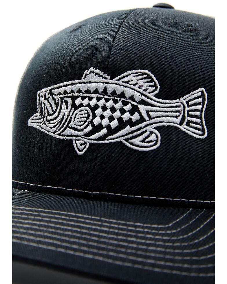 Oil Field Hats Men's Black Tribal Bass Mesh Cap , Black, hi-res