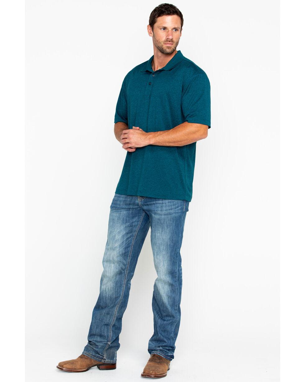 Cody James Men's Aqua Short Sleeve Polo Shirt, Aqua, hi-res