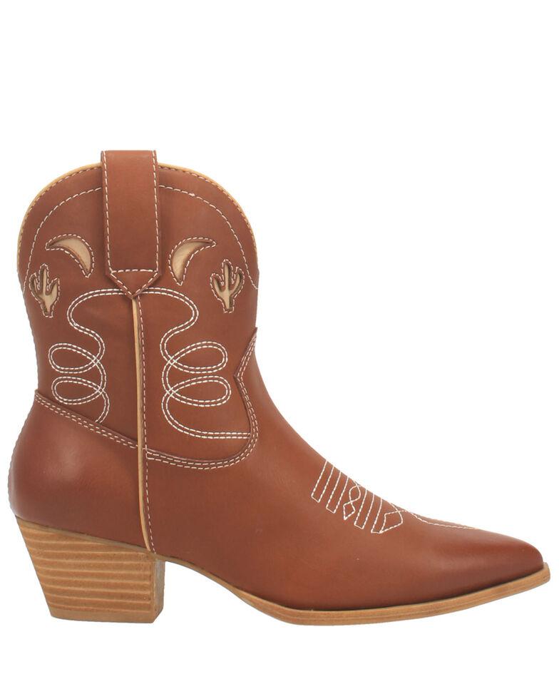 Code West Women's Agave Fashion Booties - Snip Toe, Cognac, hi-res