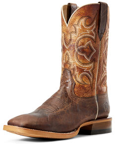 Ariat Men's Relentless High Call Western Boots - Wide Square Toe, Tan, hi-res