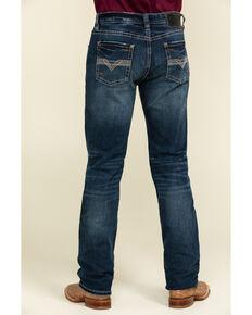 Rock & Roll Denim Men's Reflex Revolver Dark Slim Straight Jeans , Blue, hi-res