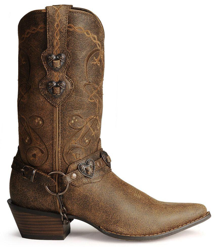 Durango Crush Heart Harness Boots, Brown, hi-res