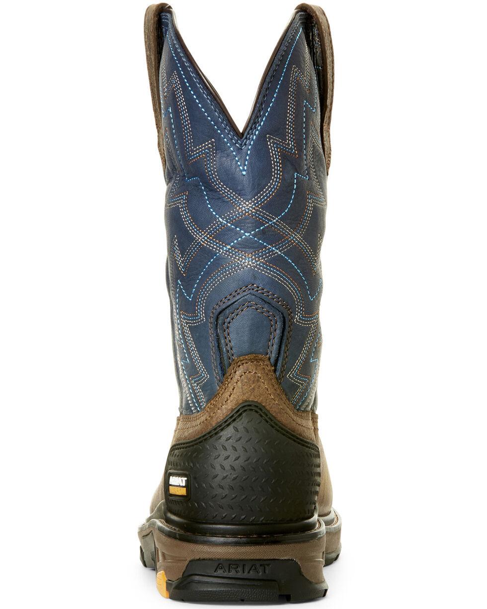 Ariat Men's Intrepid Force Rye Western Work Boots - Composite Toe, Brown, hi-res