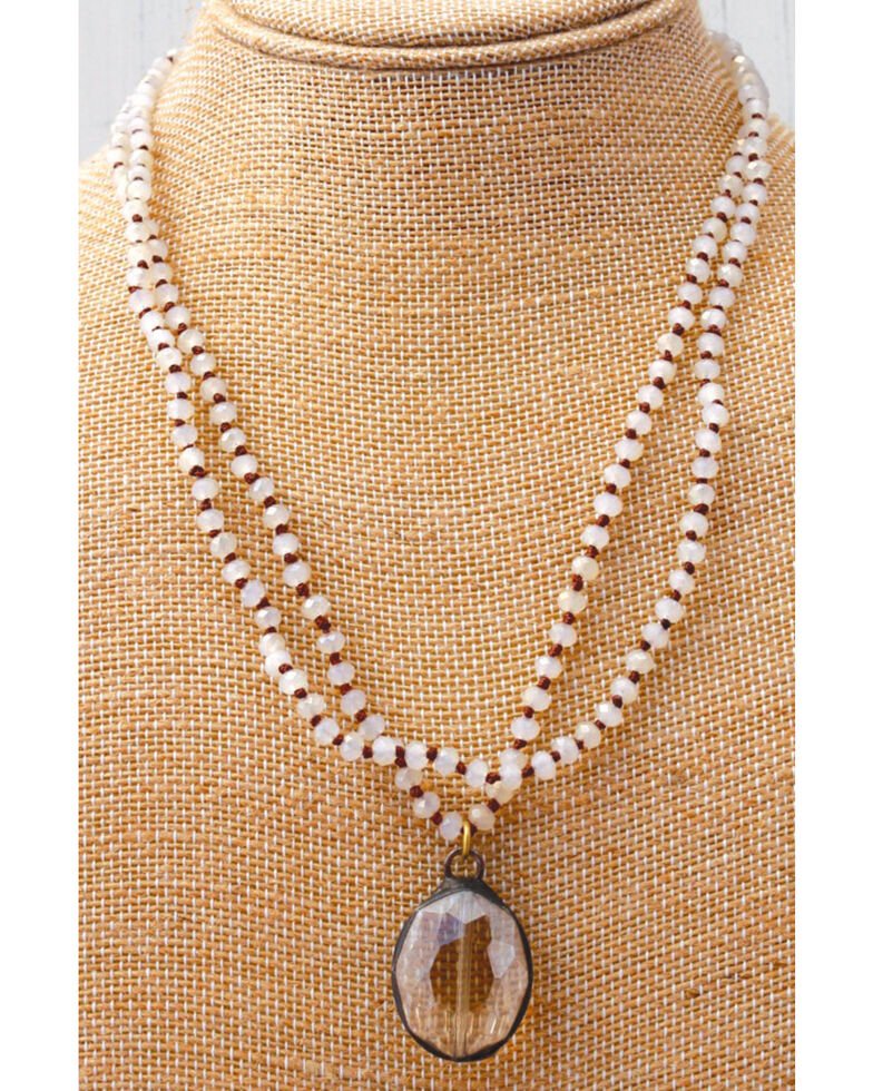 InspireDesigns Women's Crystal Rope with Iron Works Necklace , , hi-res