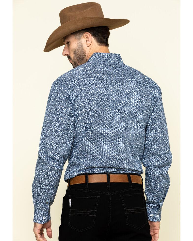 Cinch Men's Modern Fit Blue Small Paisley Print Long Sleeve Western Shirt , Blue, hi-res