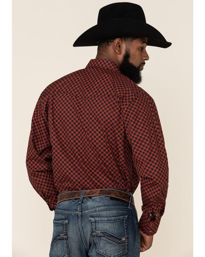 Resistol Men's Red Camden Geo Print Long Sleeve Western Shirt , Red, hi-res