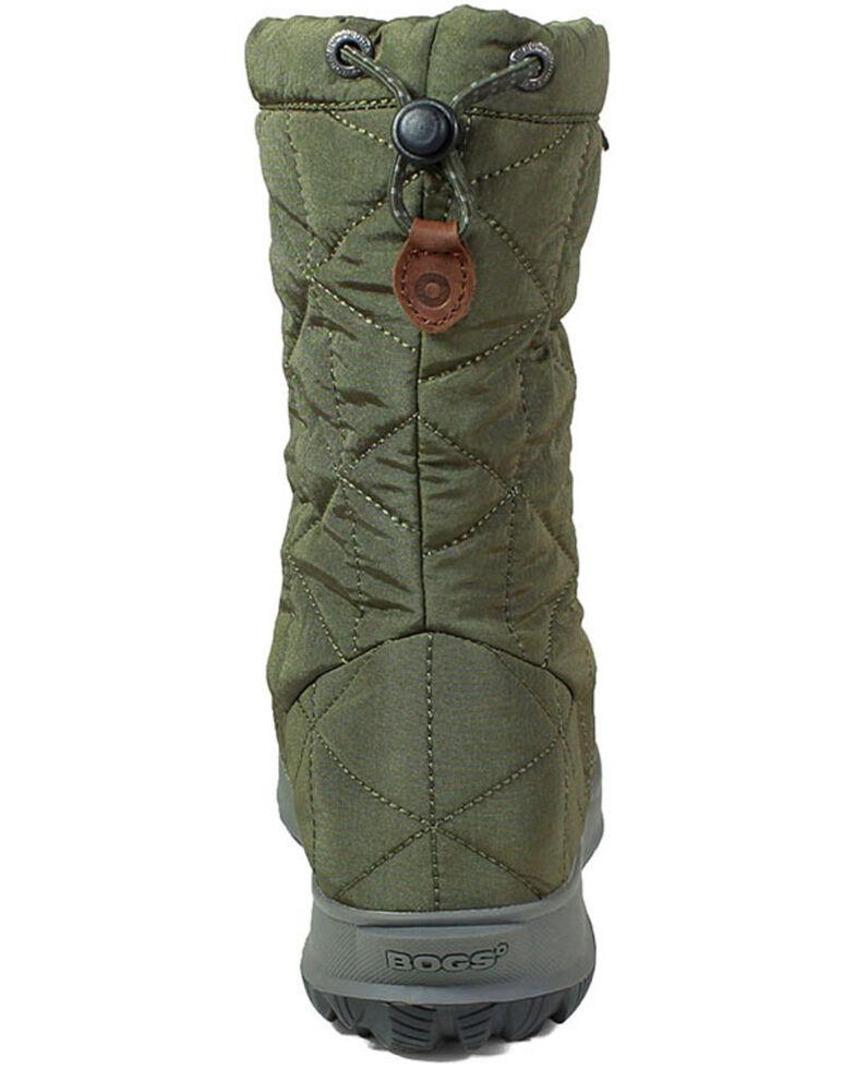 Bogs Women's Green Snowday Waterproof Winter Boots - Round Toe, Dark Green, hi-res