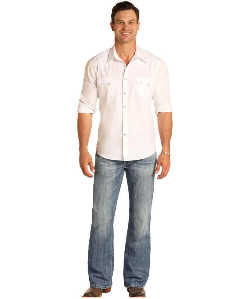 Rock & Roll Denim Men's Cannon Light Loose Bootcut Jeans , Blue, hi-res