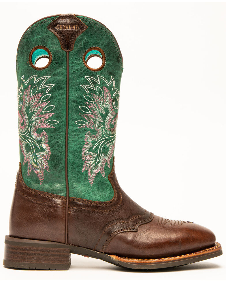 Shyanne Women's Turquoise Xero Gravity Western Boots - Wide Square Toe, Turquoise, hi-res