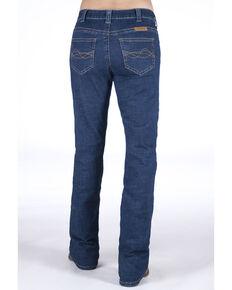 Cowgirl Tuff Women's Delux Medium Wash Bootcut Jeans, Blue, hi-res
