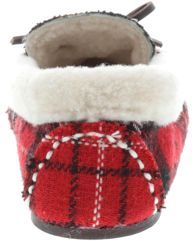 Lamo Footwear Women's Jingle Slippers - Moc Toe, Red, hi-res