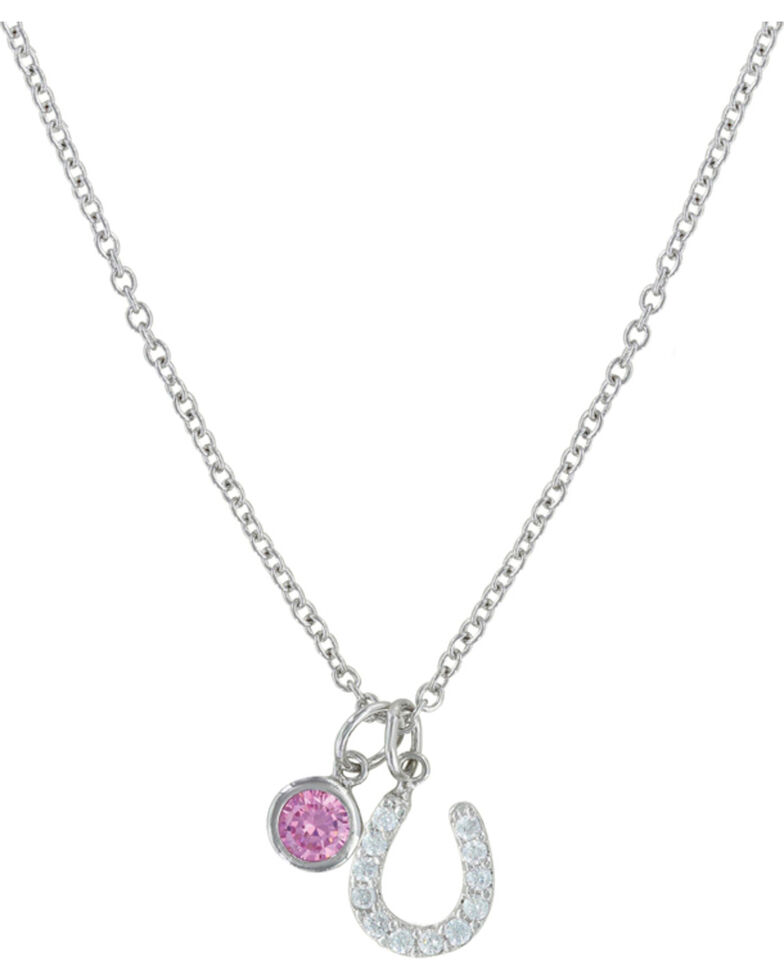 Montana Silversmiths Pink Luck By Star Light Necklace, Silver, hi-res