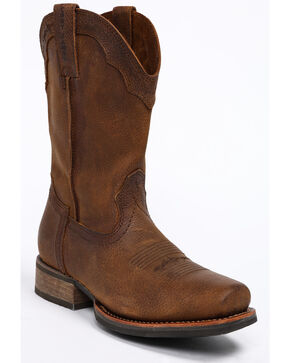 Cody James Men's Brown Xero Gravity Western Work Boots - Square Toe, Brown, hi-res