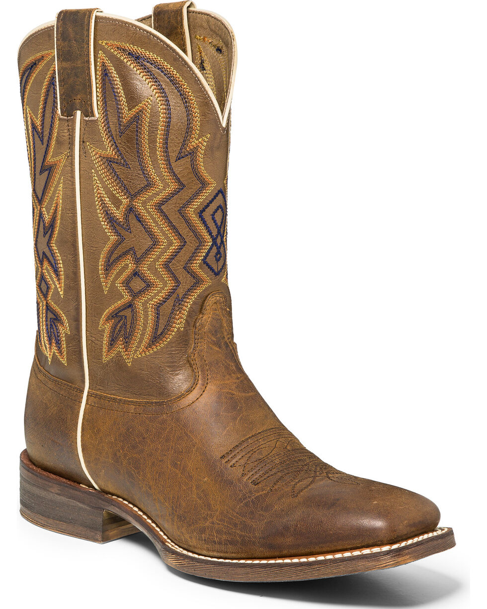 "Nocona Men's 11"" Vintage Cowboy Boots - Square Toe, Brown, hi-res"
