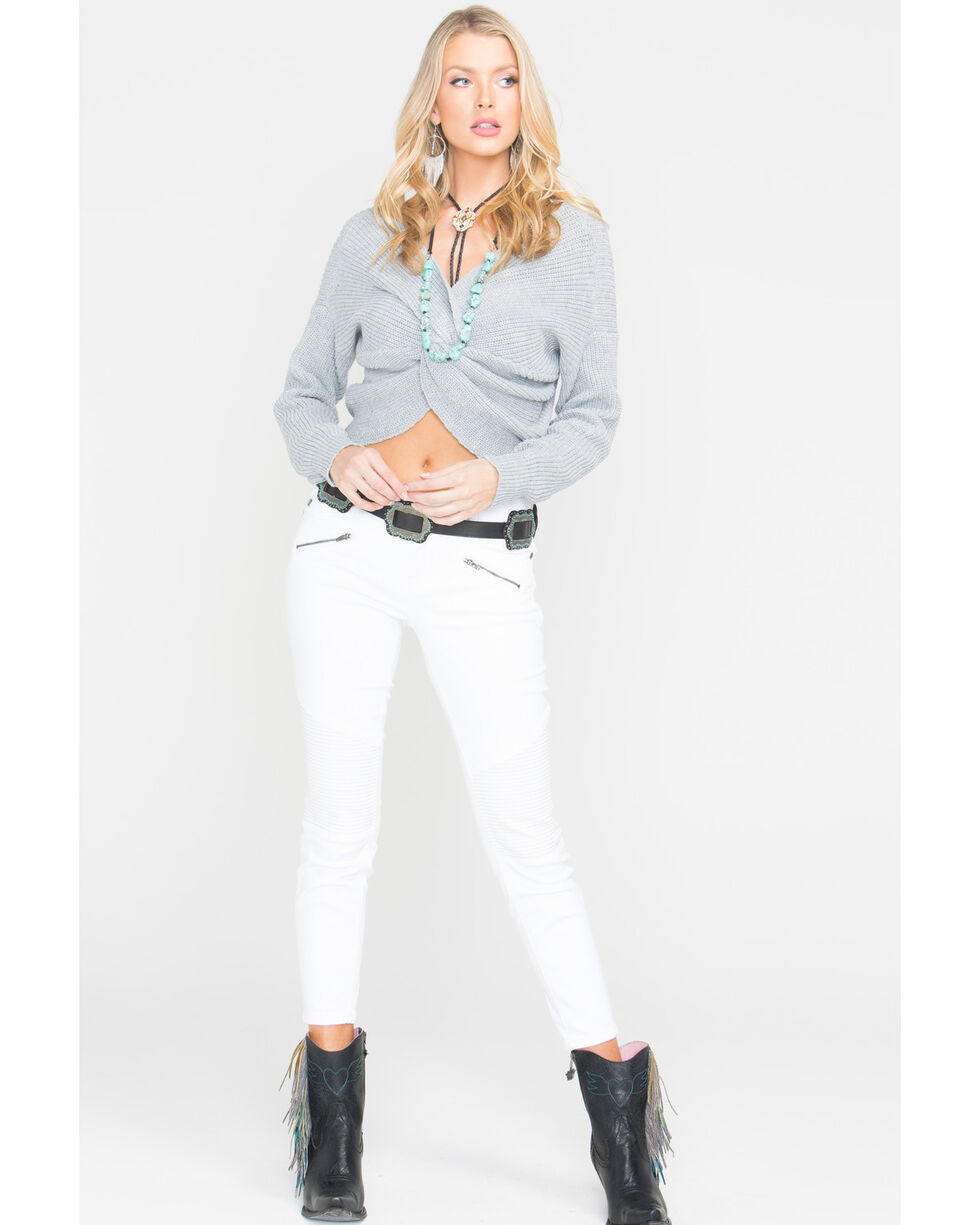 Sage The Label Women's Heart Throb Sweater , Grey, hi-res