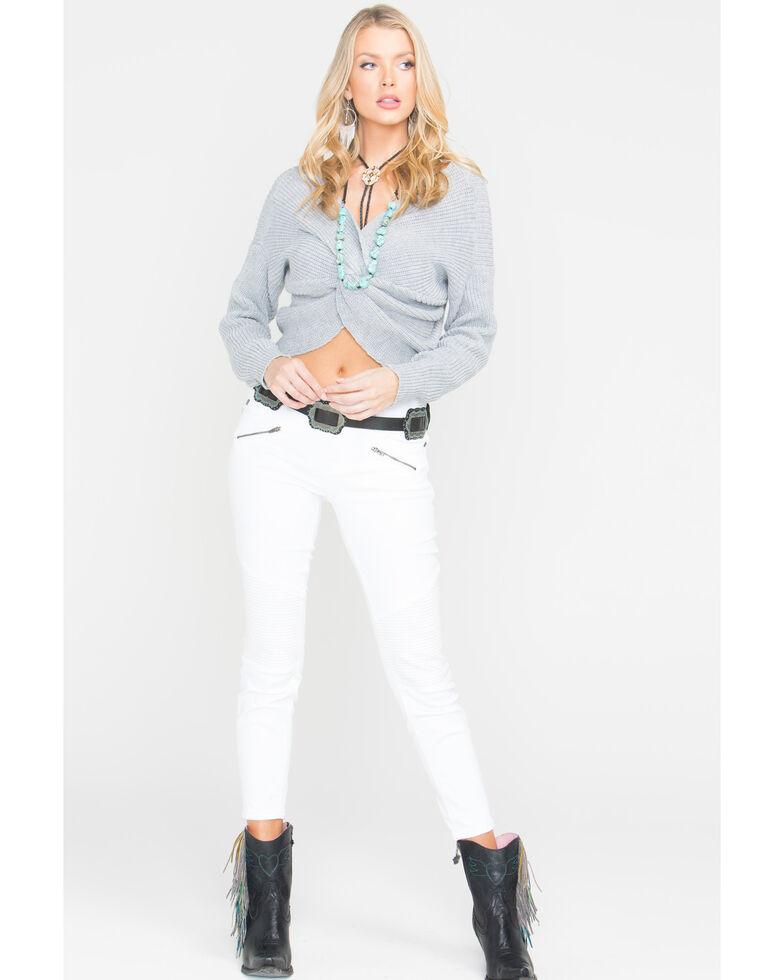 Sage The Label Women's Heart Throb Sweater , Grey, hi-res
