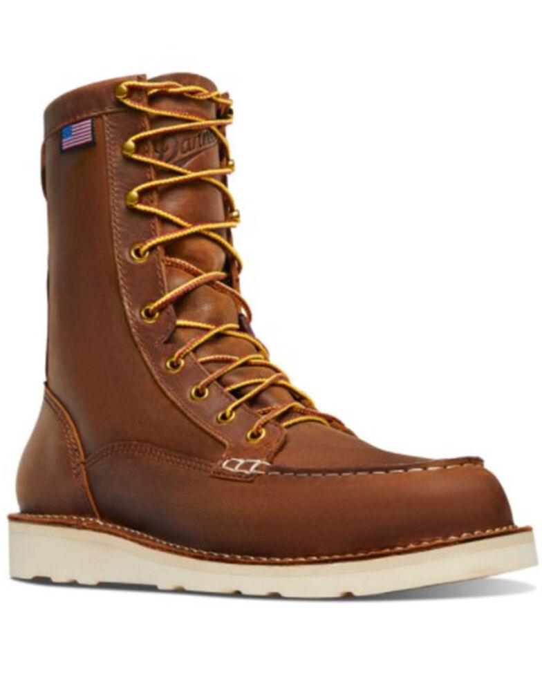 Danner Men's Bull Run Lace-Up Work Boots - Soft Toe, Brown, hi-res