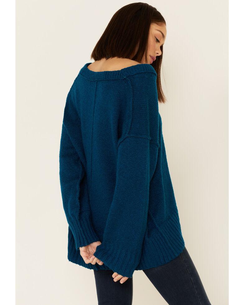 Free People Women's Brookside Tunic Sweater , Blue, hi-res