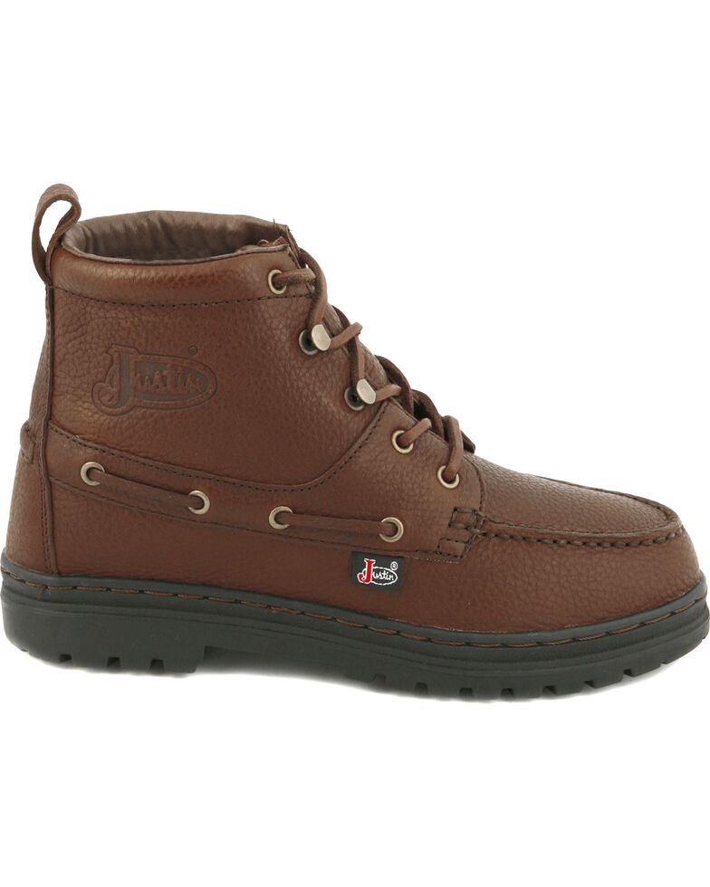 Justin Women's Chip Casual Lace-Up Boots, Rust, hi-res