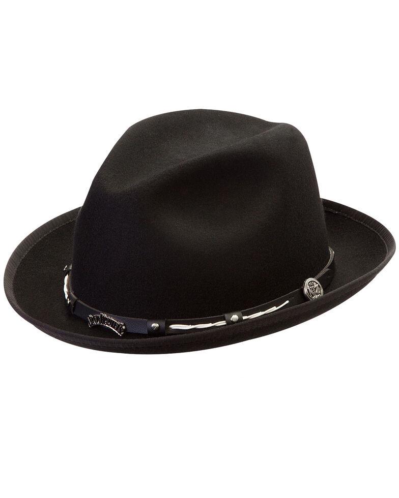 Jack Daniel's Men's Black Logo Crushable Wool Hat, Black, hi-res
