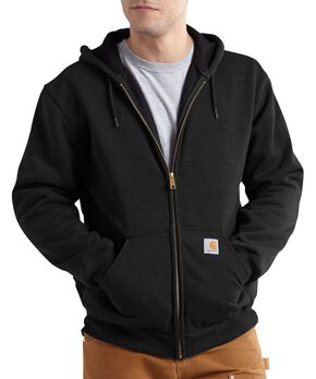 Carhartt Thermal Lined Hooded Zip Jacket - Big & Tall, Black, hi-res