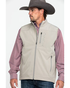 Cinch Men's Light Grey Wind Proof Bonded Vest , Light Grey, hi-res