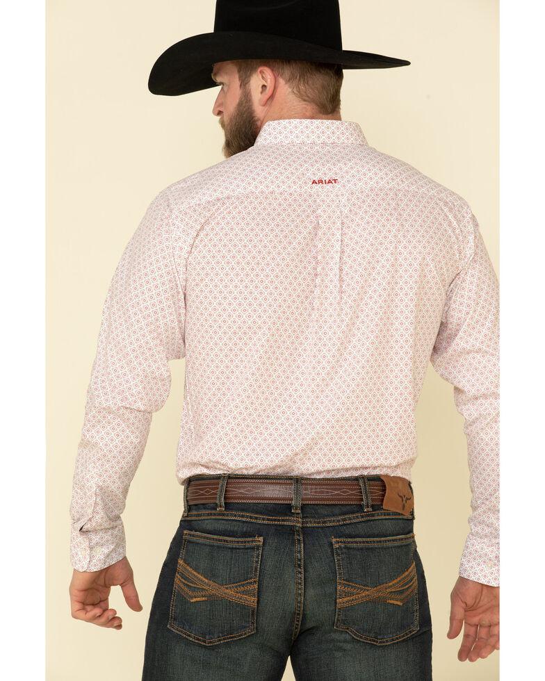 Ariat Men's Keely Geo Print Long Sleeve Western Shirt , White, hi-res