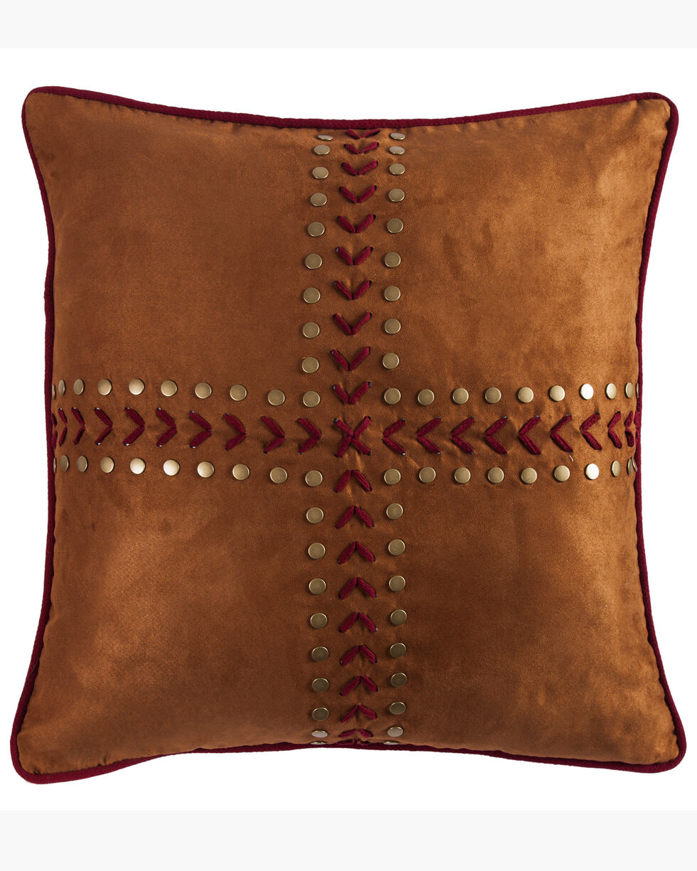 HiEnd Accents Reversible Solace Euro Sham, Red, hi-res