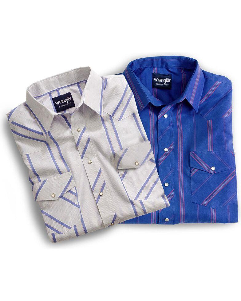 Wrangler Men's Assorted Plaid Short Sleeve Western Shirts, Plaid, hi-res