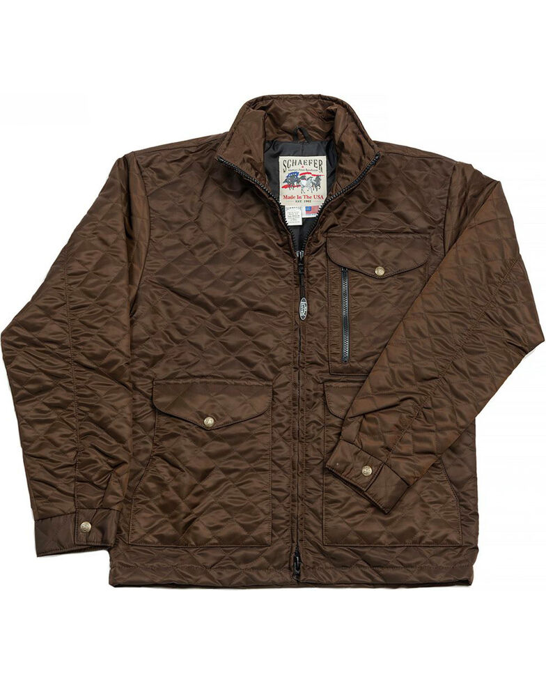 Schaefer Outfitter Men's Chocolate Canyon Cruiser Jacket , Chocolate, hi-res