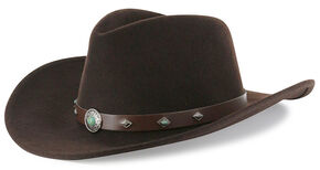 Cody James Men's Santa Ana Brown Wool Felt Hat , Brown, hi-res