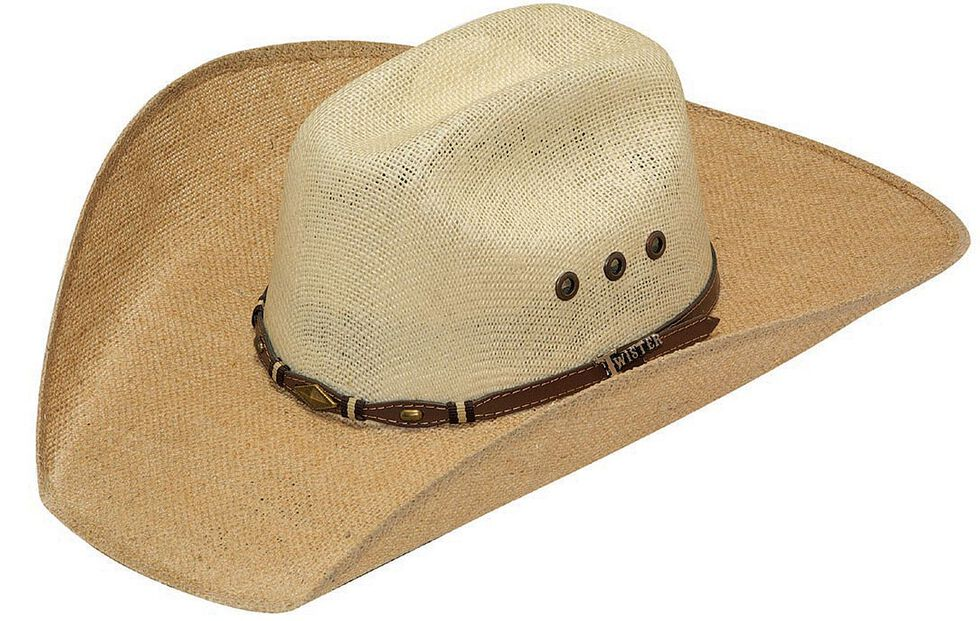 30b37d6c45c Twister 8X Jute Concho Hat Band Straw Cowboy Hat - Country Outfitter