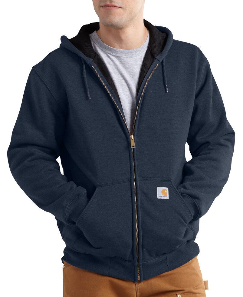 Carhartt Rain Defender Rutland Thermal-Lined Hooded Zip-Front Jacket, Navy, hi-res