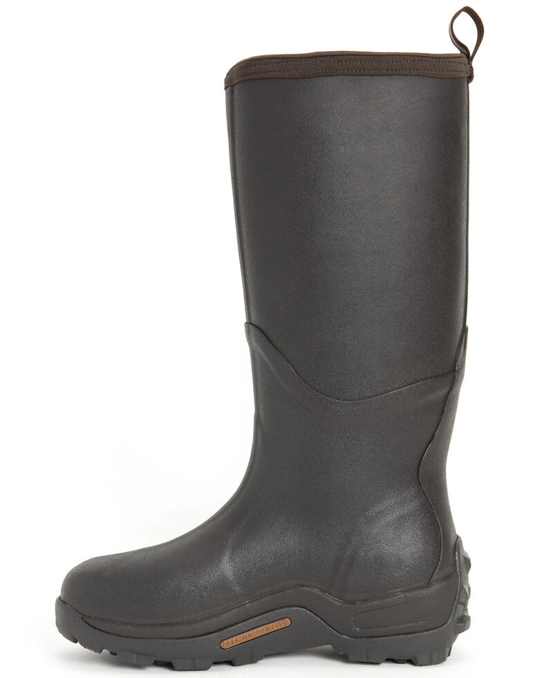Muck Boots Men's Wetland Snake Rubber Boots - Round Toe, Brown, hi-res