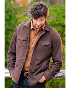 Ryan Michael Men's Brown Tumbled Suede Coat , Brown, hi-res