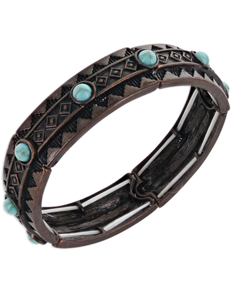 Montana Silversmiths Women's Rumbling Earth Mineral Bracelet, No Color, hi-res