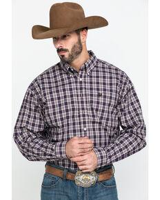 Cinch Men's Multi Plaid Plain Weave Button Long Sleeve Western Shirt , Multi, hi-res