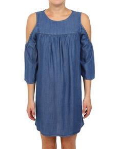 db2f5f40df8f Glam Women s Tencel Cold Shoulder Dress