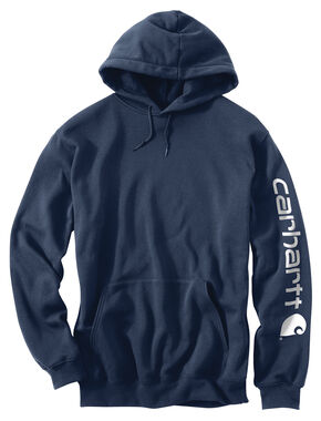 Carhartt Logo Hooded Sweatshirt, Navy, hi-res