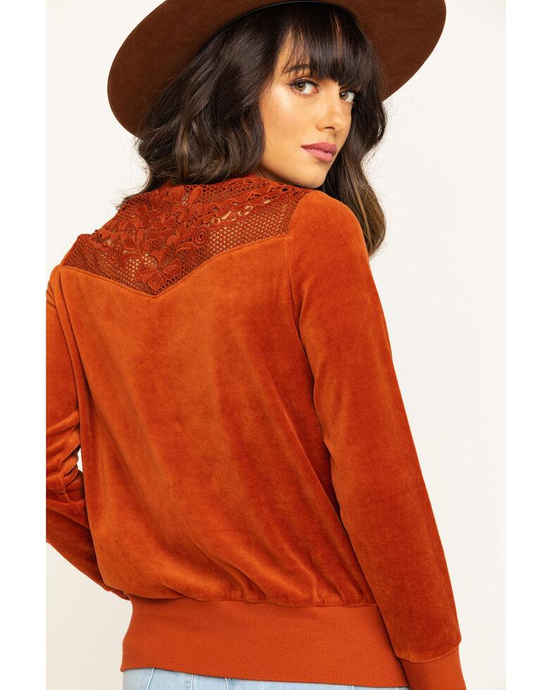 Shyanne Life Women's Rust Lace Top, Rust Copper, hi-res